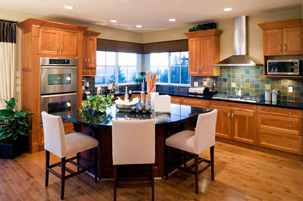 44 Kitchens with Double Wall Ovens (Photo Examples) on kitchen counter design ideas, kitchen counter lighting ideas, kitchen counter accessories ideas, kitchen counter remodeling ideas, kitchen counter decor ideas, kitchen counter seating ideas, kitchen counter storage ideas, kitchen counter color ideas,