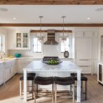 13 U-Shaped White Beach-Style Kitchen Designs (with 1 Island)