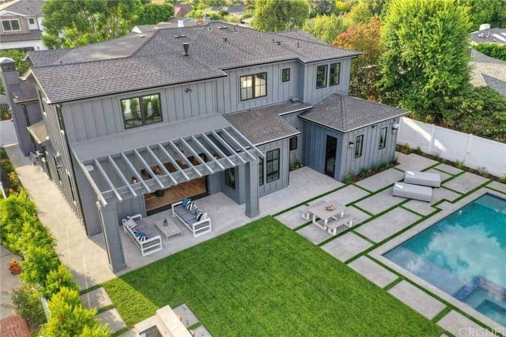 Encino Woods' Modern Farmhouse with Stunning Wood Details