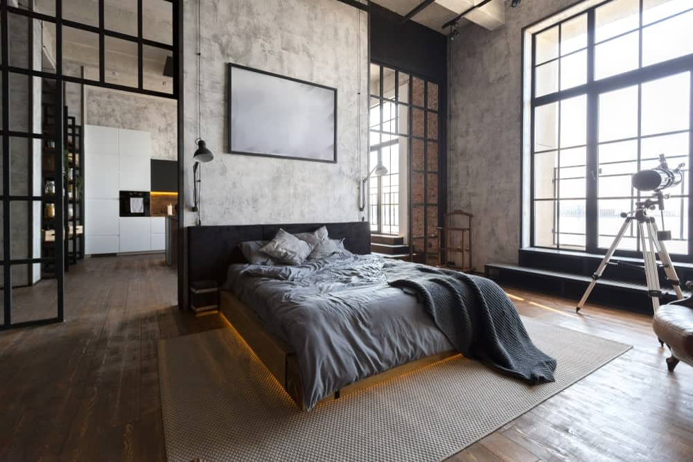 innovative industrial interior design bedroom ideas | 65 Industrial-Style Master Bedroom Ideas (Photos)