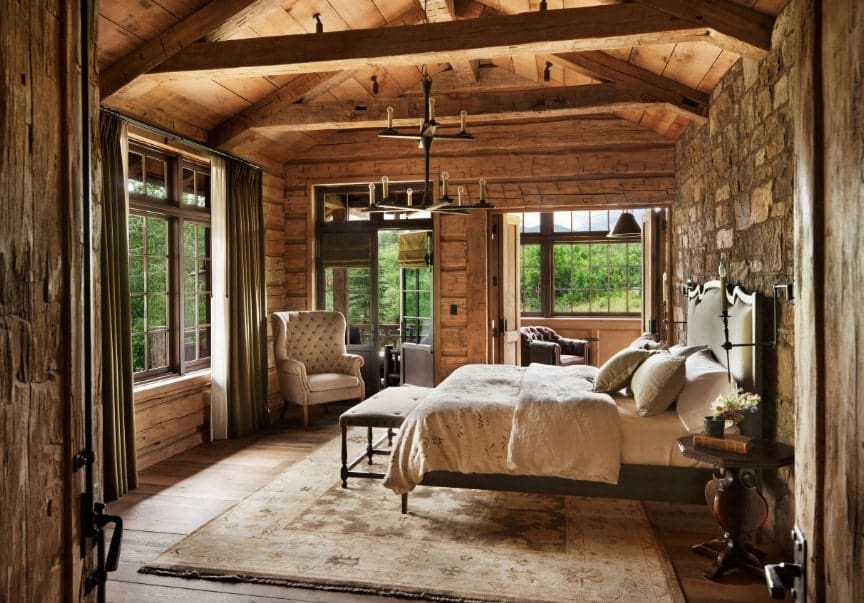 70 Rustic Style Bedroom Ideas Photos