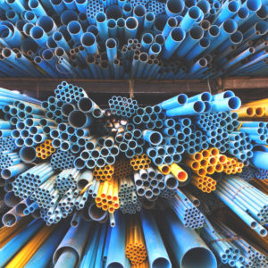 Photo of different types of PVC pipes