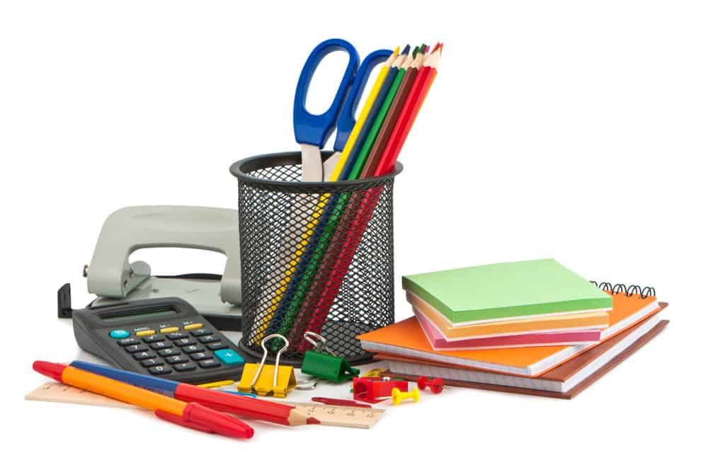 Photo of various office supplies