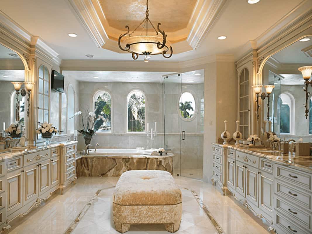 60 Beige Mediterranean Style Master Bathroom Ideas Photos