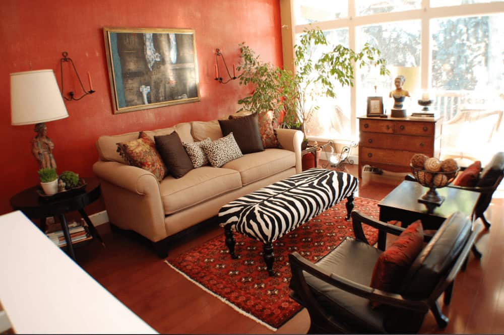 40 Red Living Room Ideas (Photos)