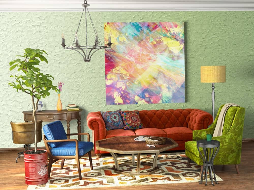 55 Eclectic Living Room Ideas (Photos)