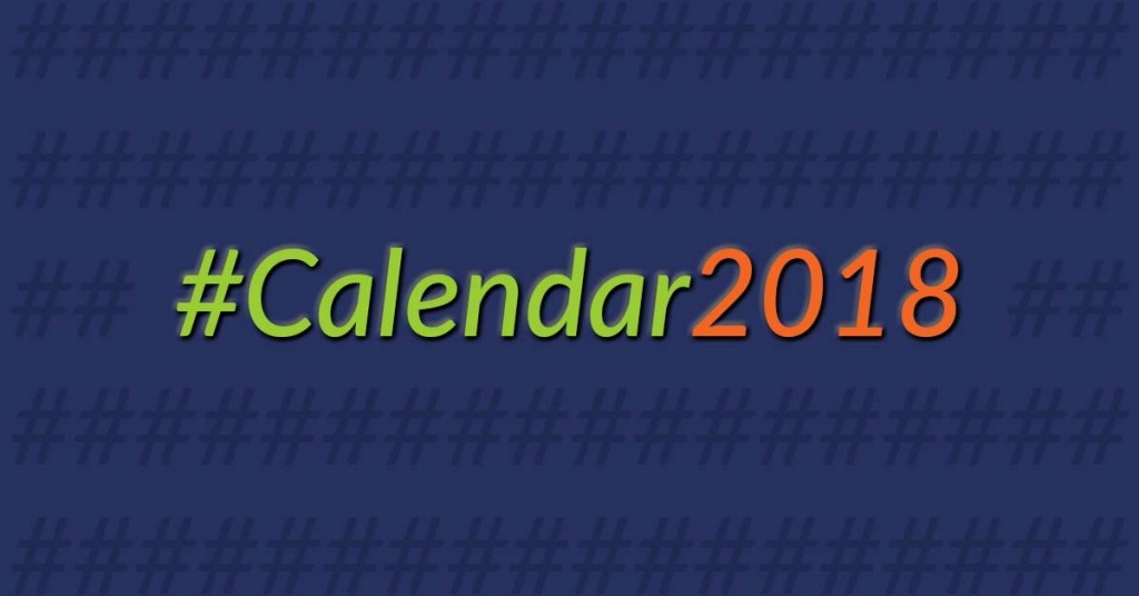 Image for 2018 Hashtag Calendar
