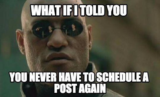 Image for Smart Posting: Never Schedule a Post Again