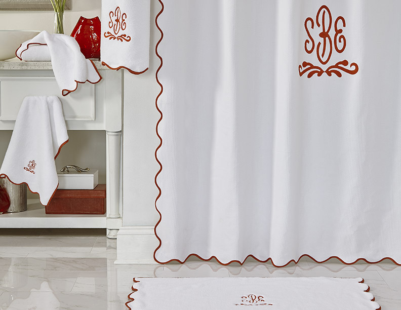 Antalya Italian Matelasse Pique Shower Curtain