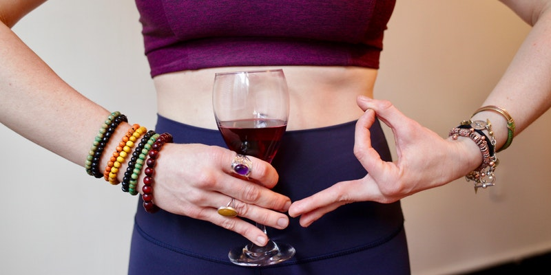 Drunk Yoga! Free Wine!