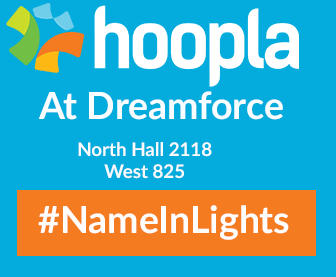 Name in Lights Hoopla Dreamforce Booth Numbers