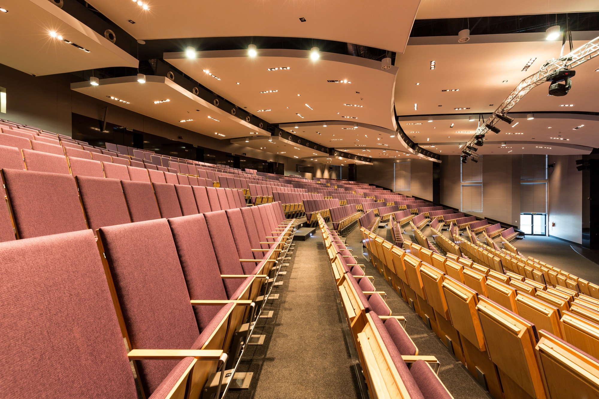 Large lecture hall in academy