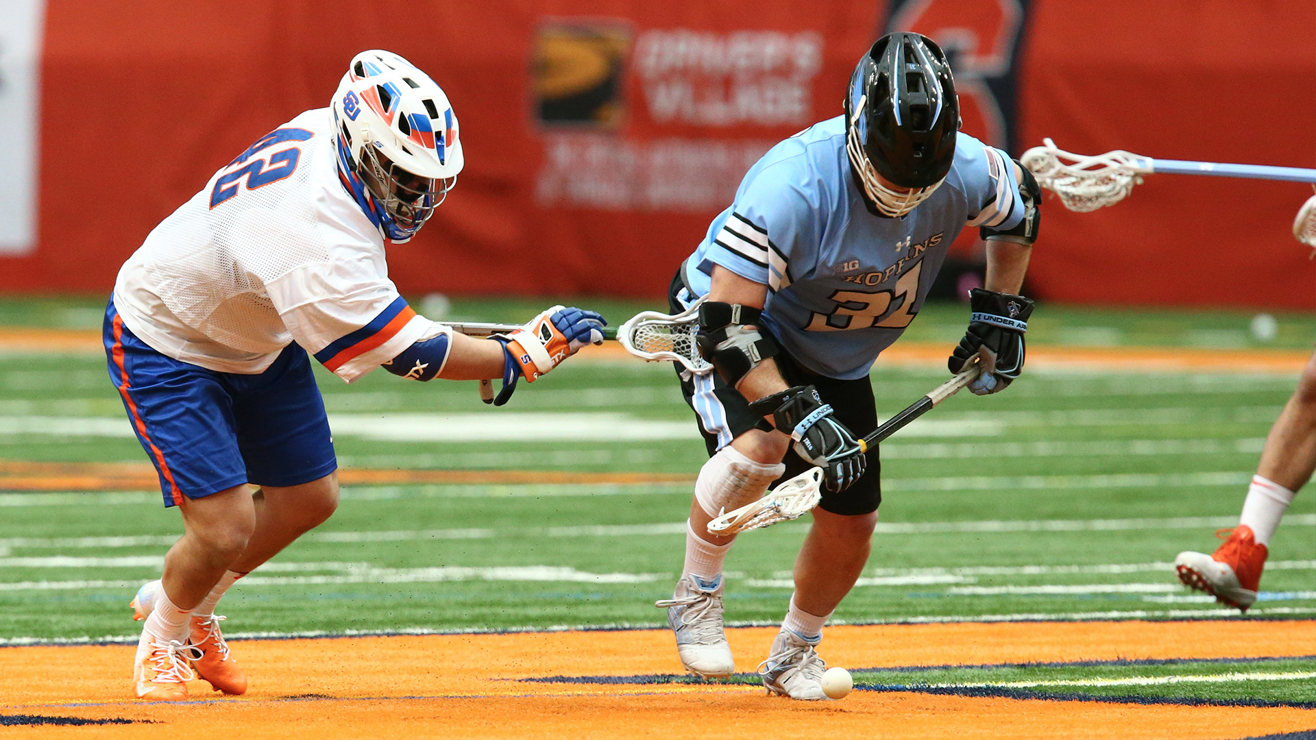 hopkins powers past syracuse, 18-7, at the carrier dome - johns