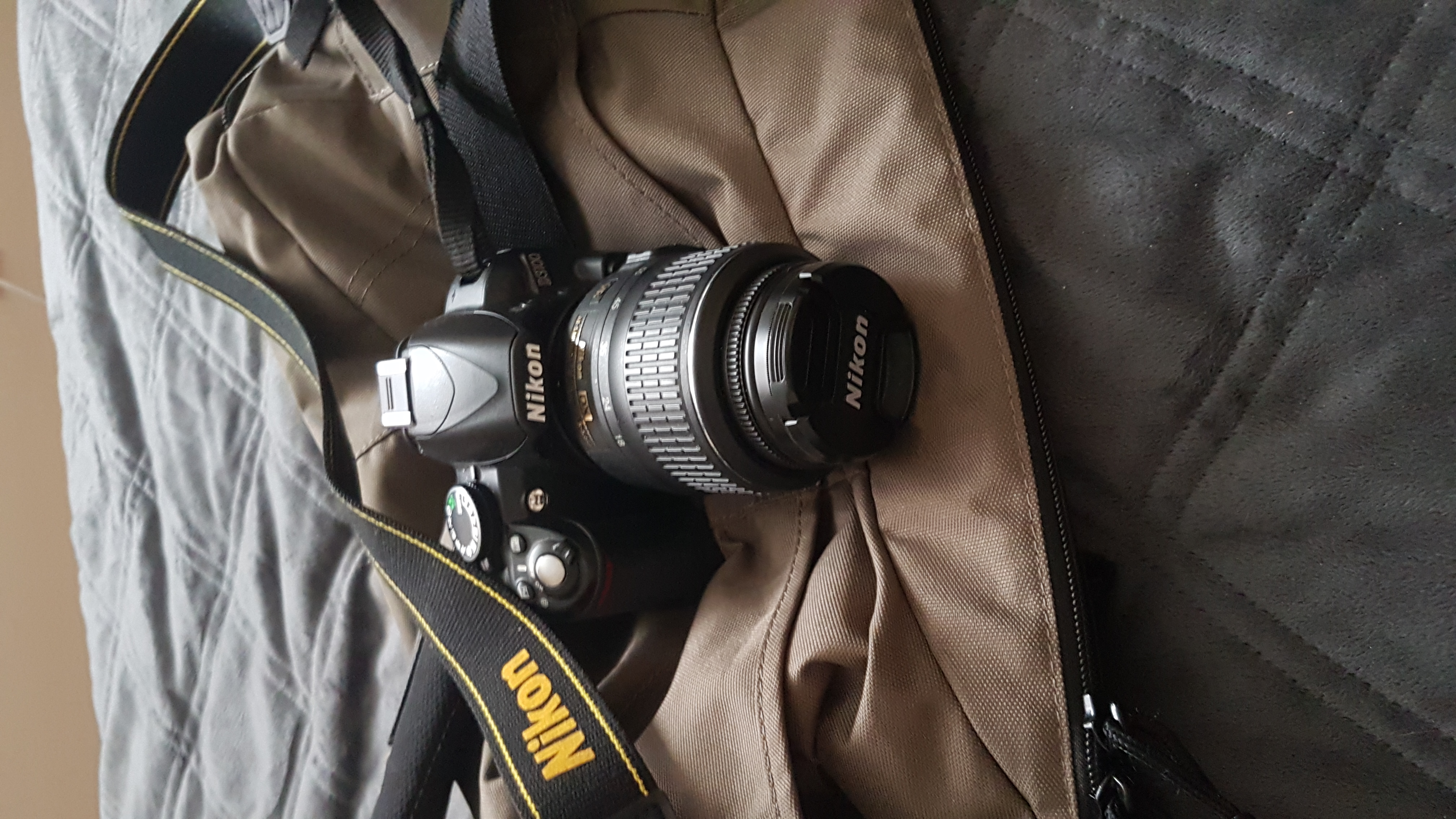 NikonD3100 with 18-55mm lens and camera Bag