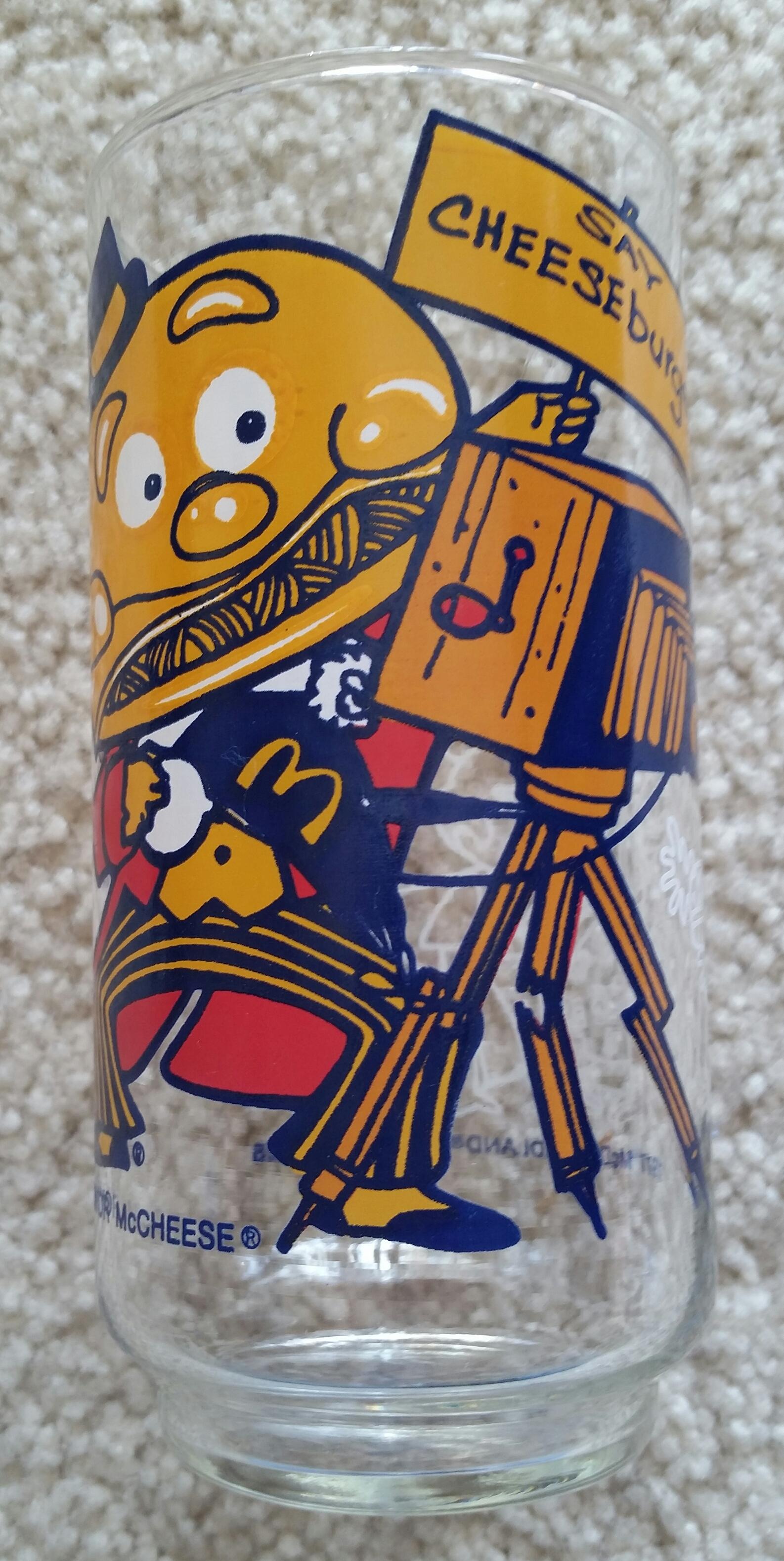 051600221 Vintage 1977 McDonaldland Mayor McCheese Drinking Glass - $12