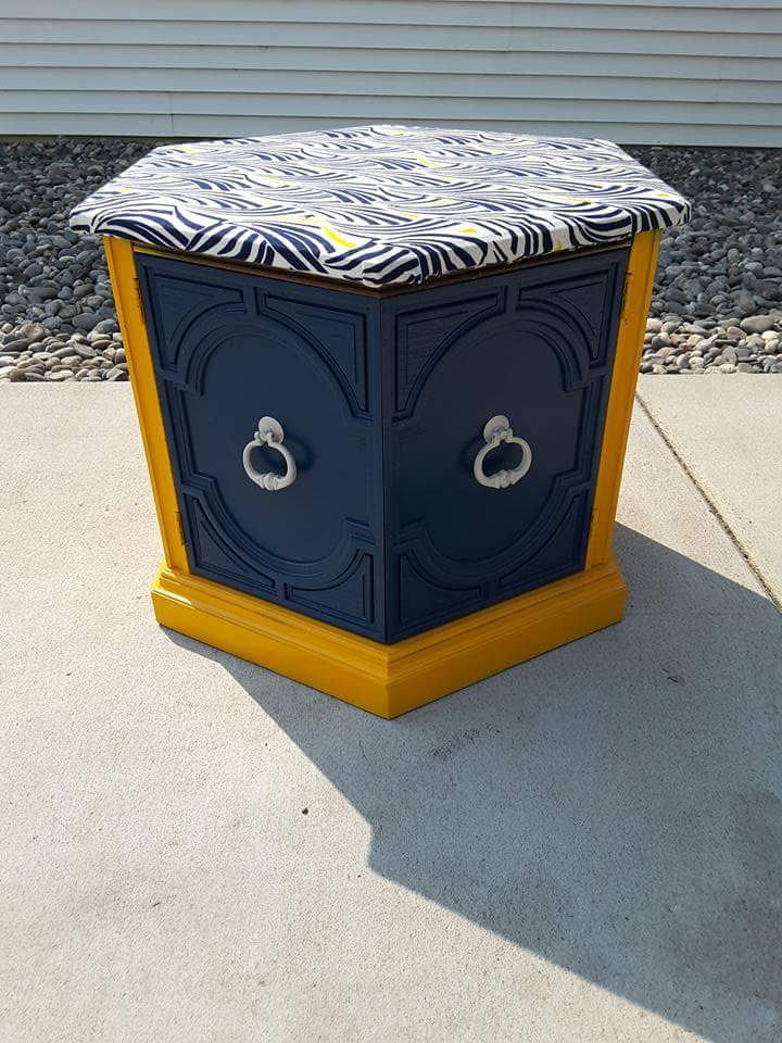Refurbished night stand/end table