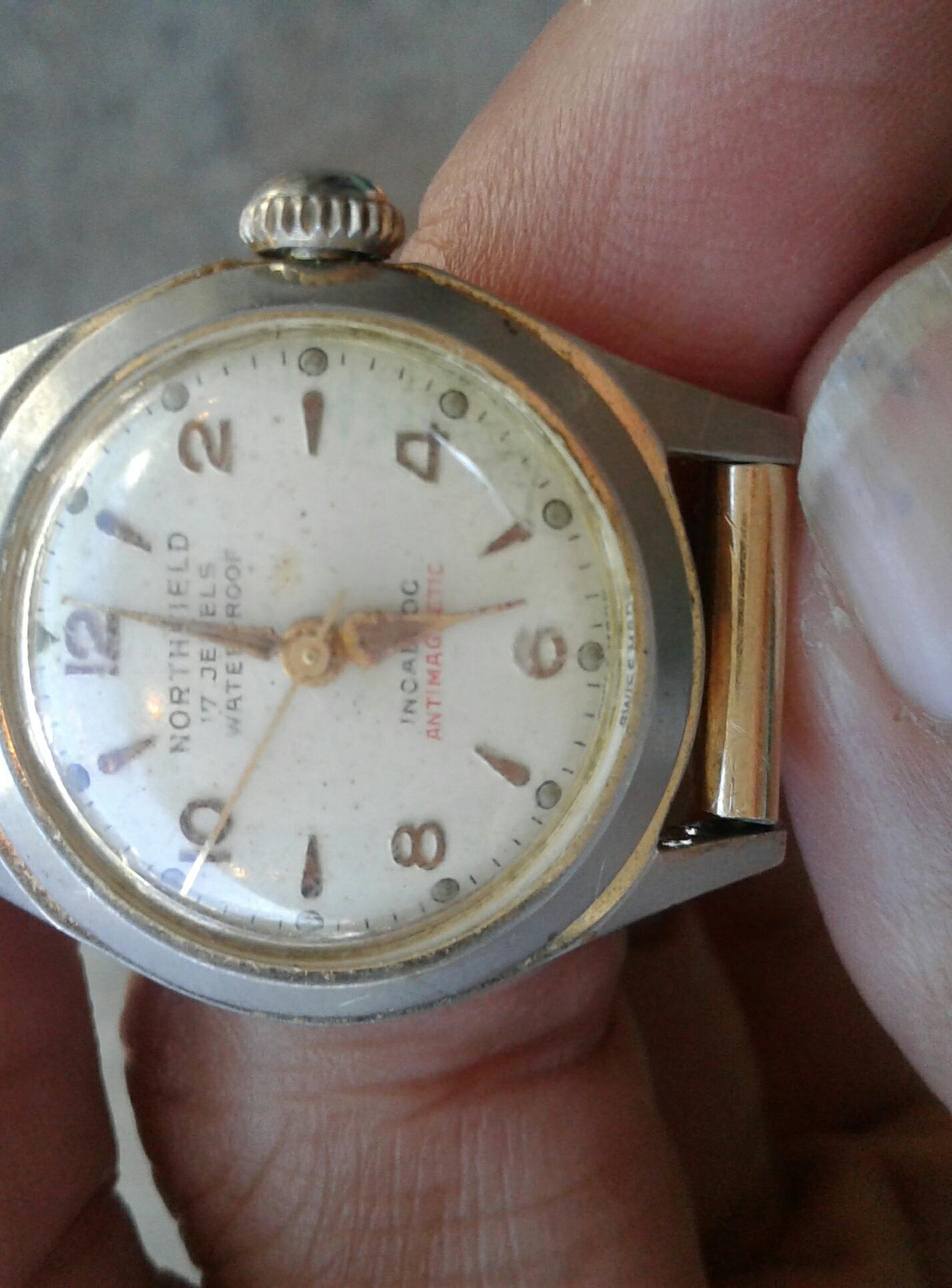 Northfield 17 jewels waterproof incabloc antimagnetic swiss made watch