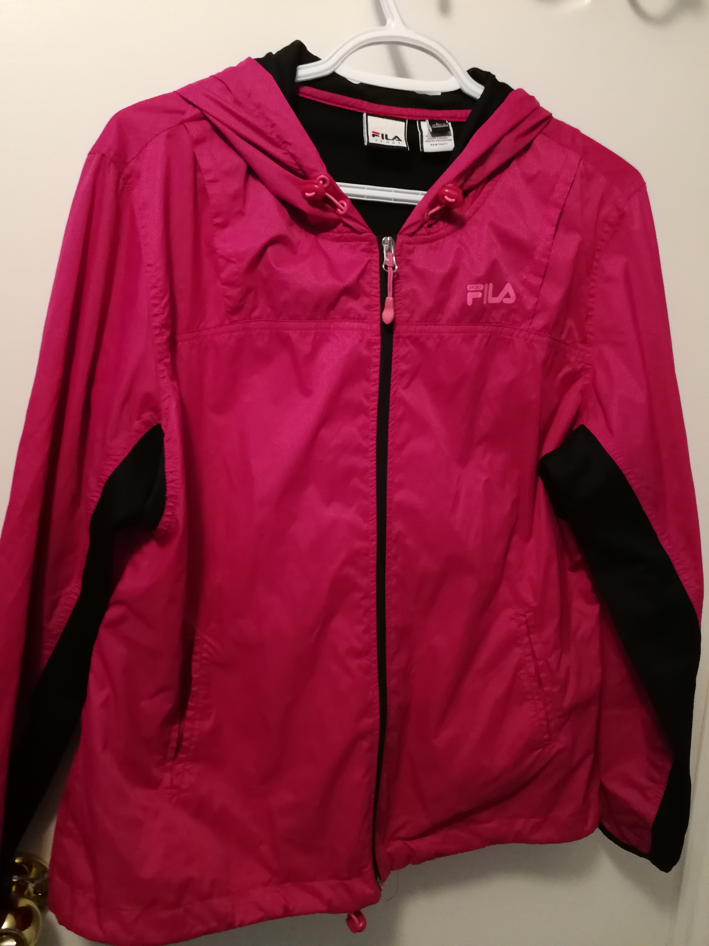 Fila pink windbreaker jacket womens large