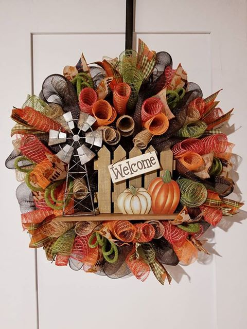 CUSTOM MADE MESH WREATH