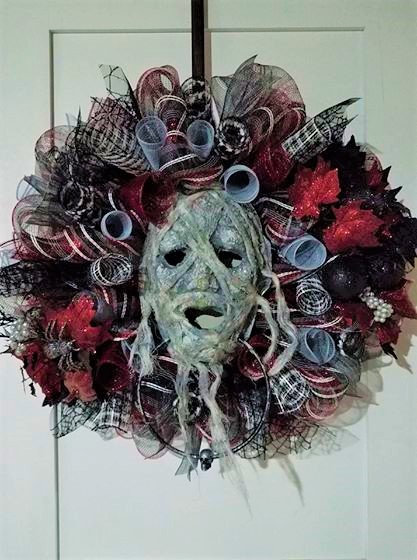 "CUSTOM MADE ""MUMMY"" MESH WREATH"