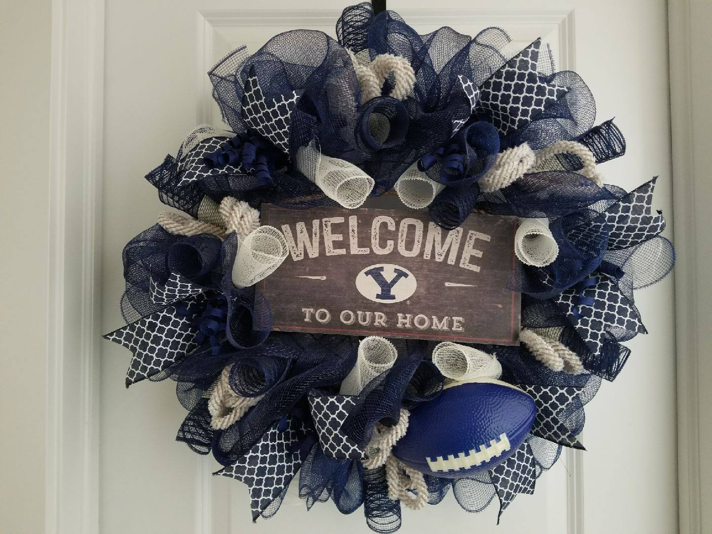 CUSTOM MADE BYU MESH WREATH