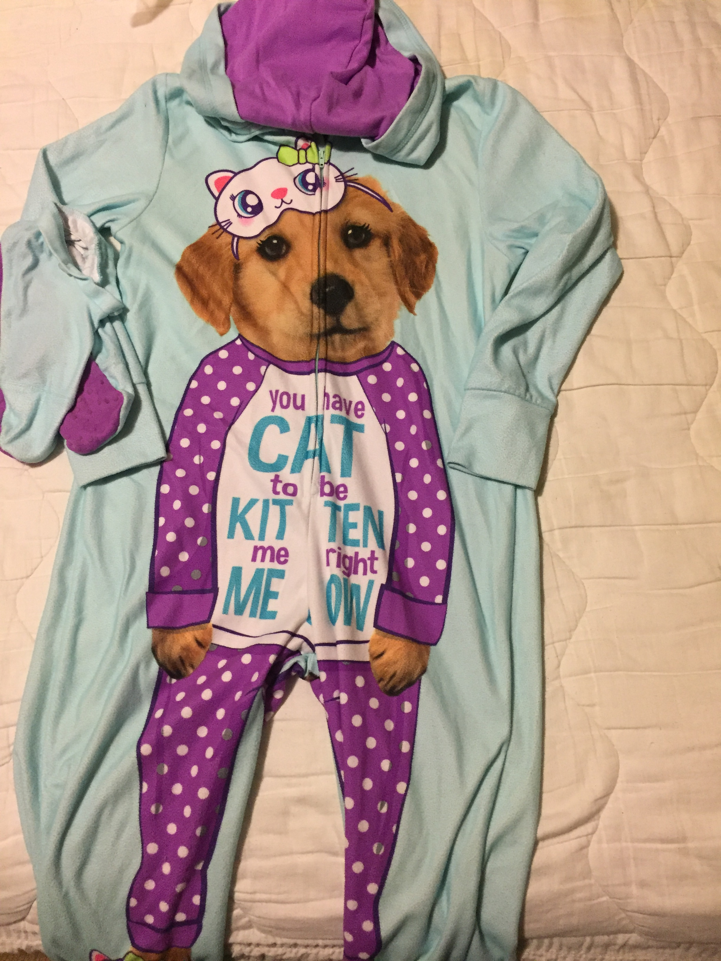 Justice - 1 piece Pj's - Girls - Size 6-7 -