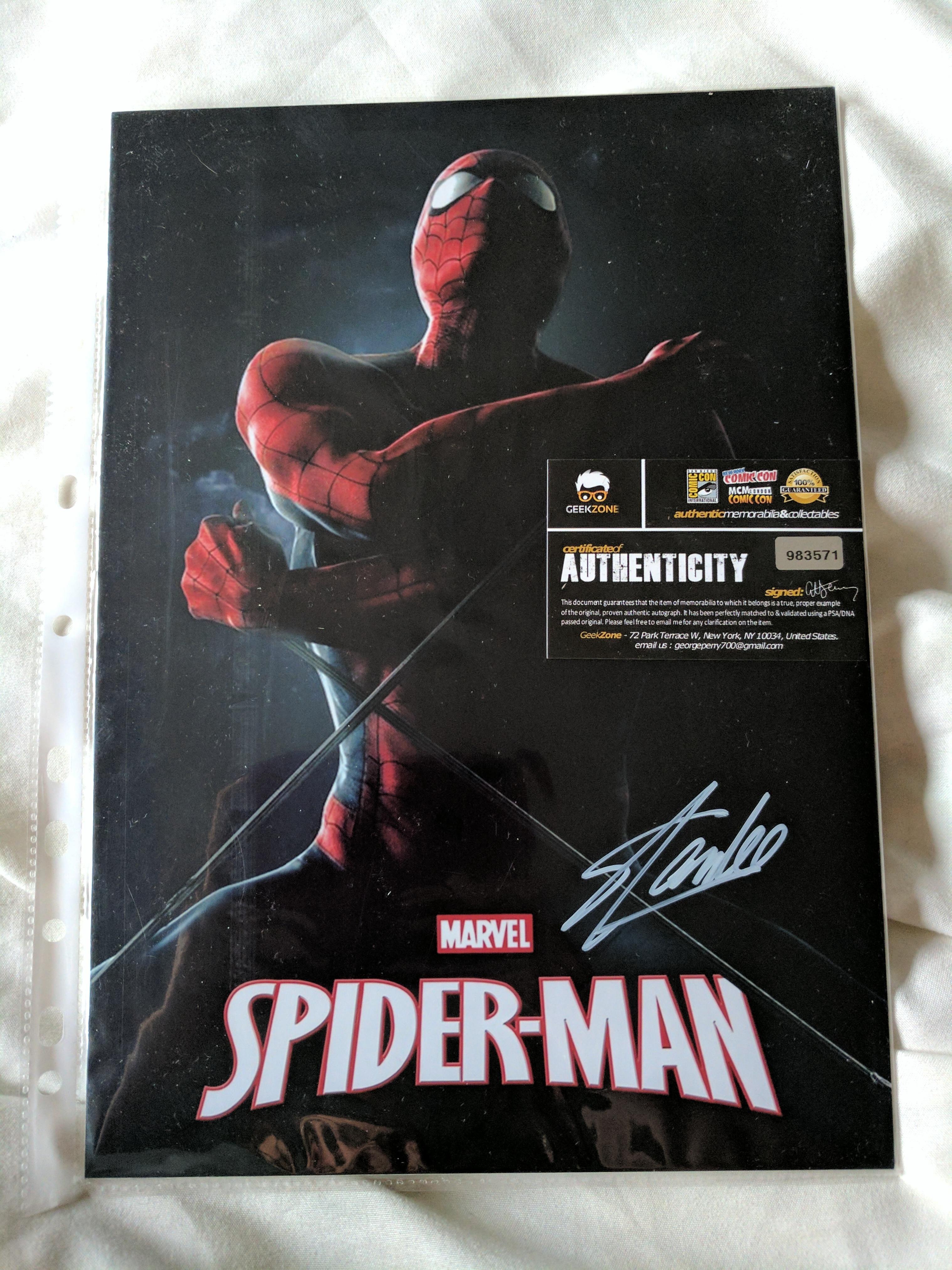Marvel Signed Photographs