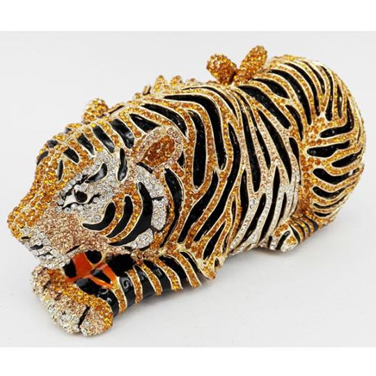 Animal Tiger Luxury Crystal Bag