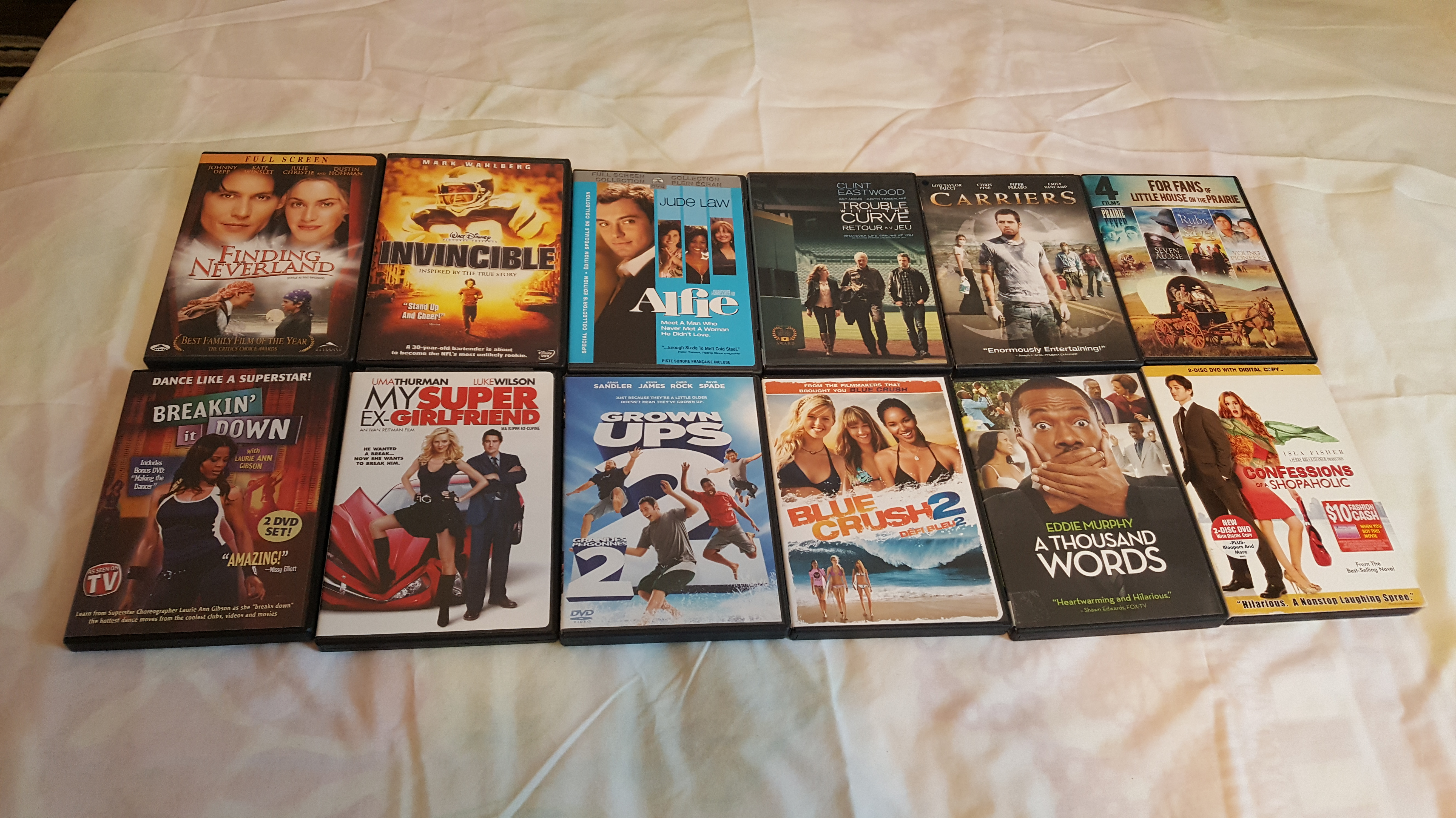 Movies $15.00 for all 12 movies