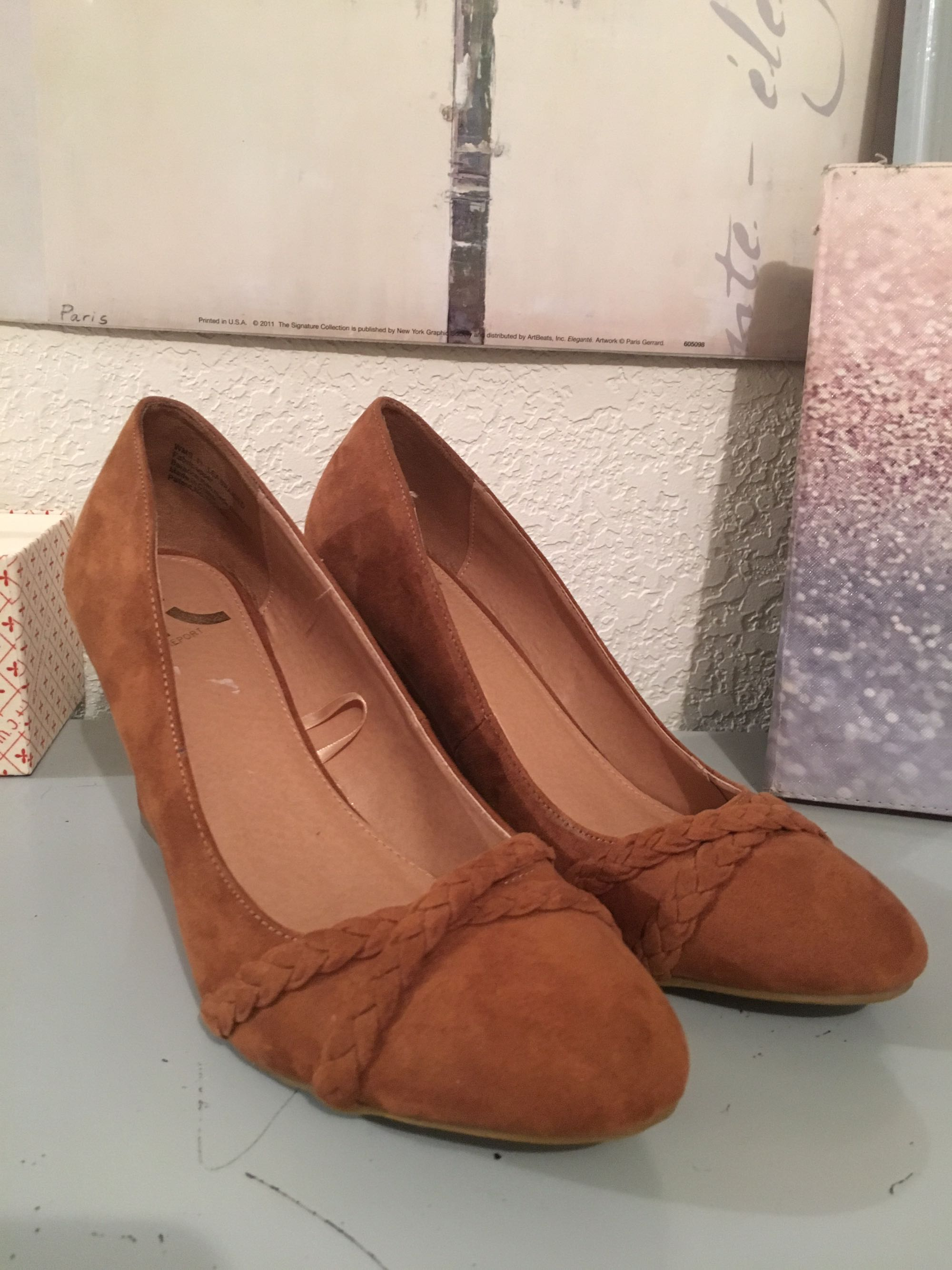 Size 11 Faux Suede Wedge $10