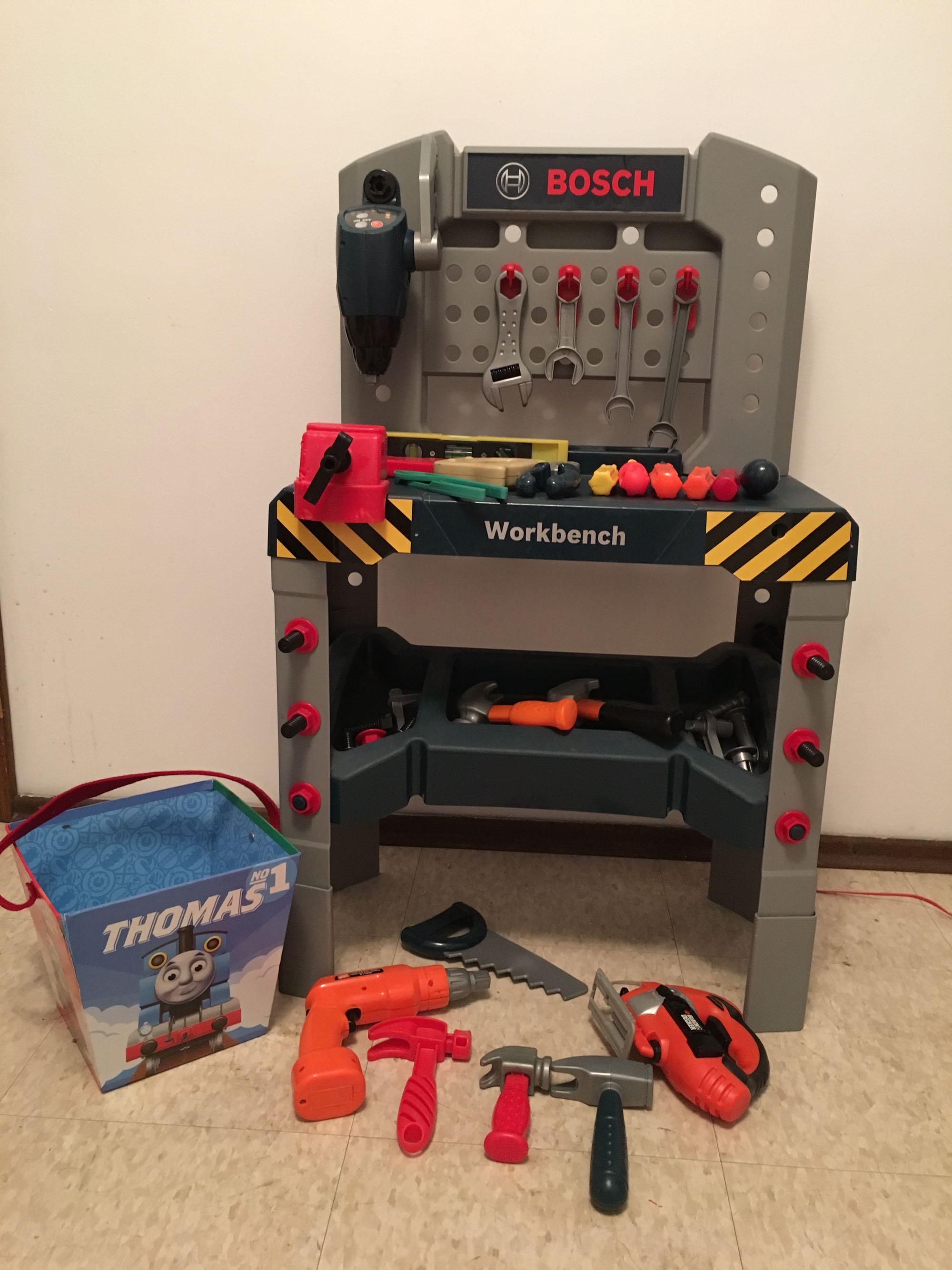 Bosch work bench and tools