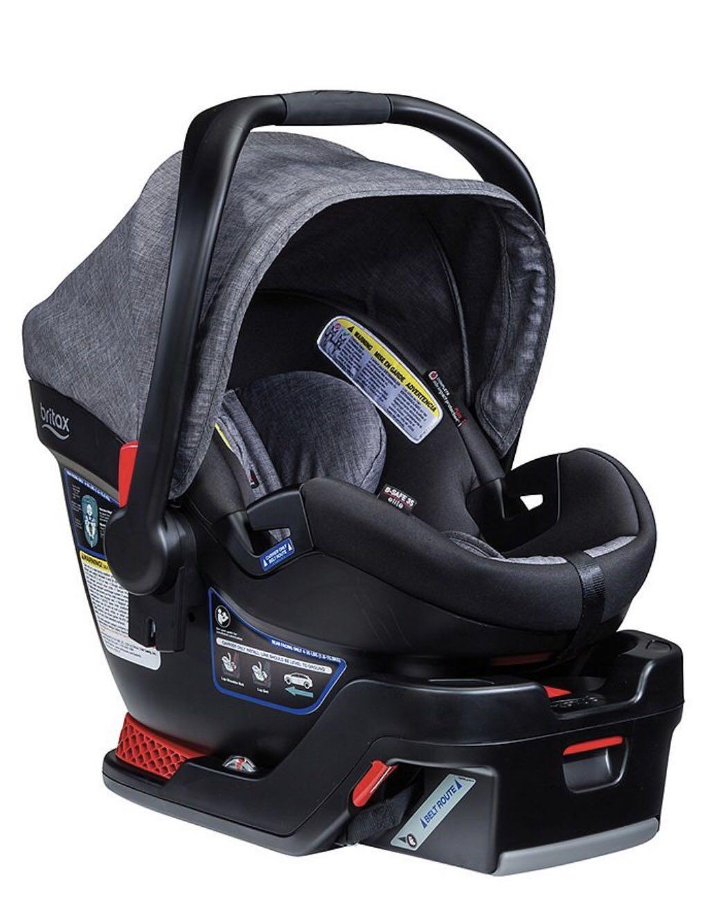 Britax B-Safe 35 Infant Car Seat, 3 car seat bases and Contours stroller adaptors