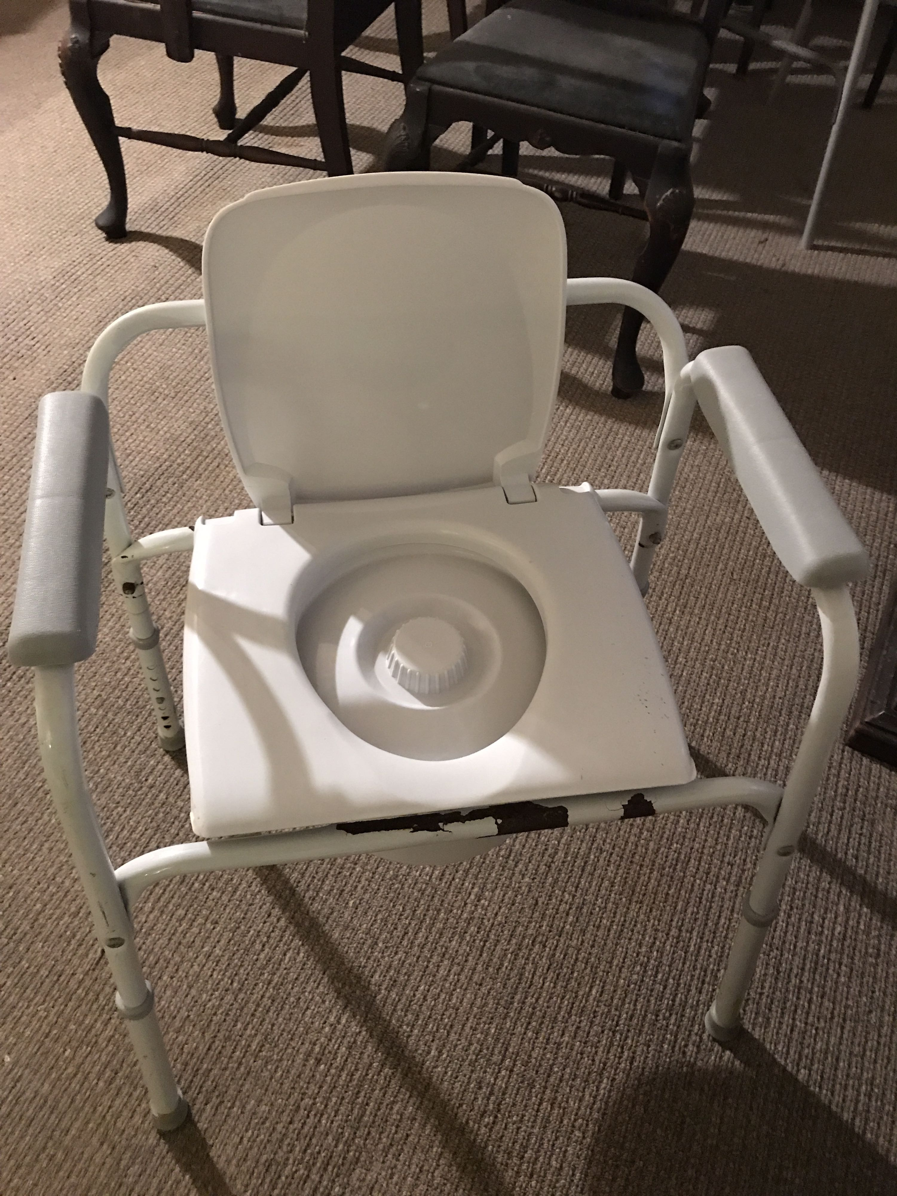 Medical potty chair