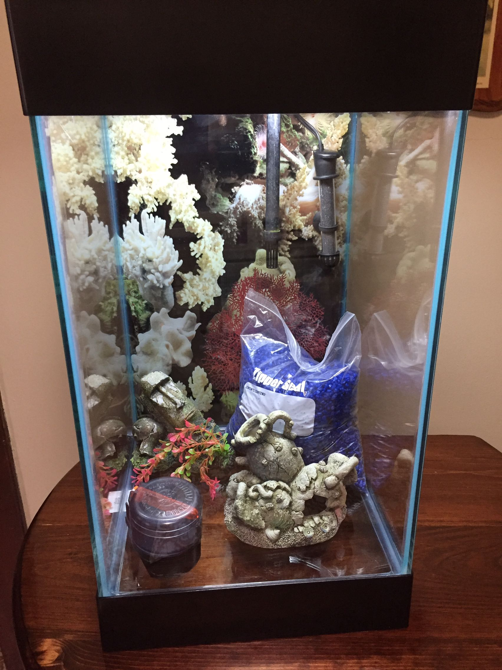 15 Gallon Column Fish Tank