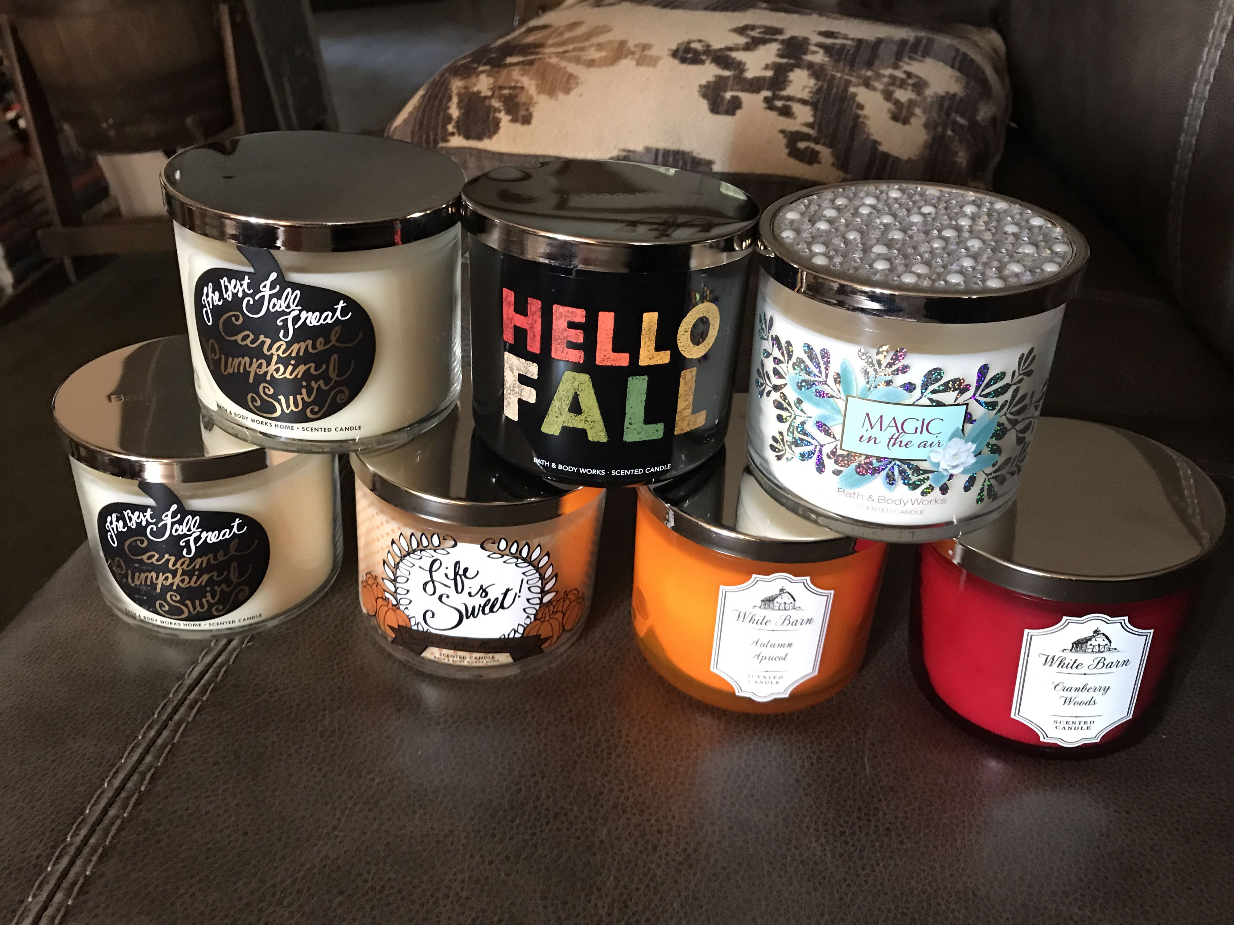 New bath and body candles