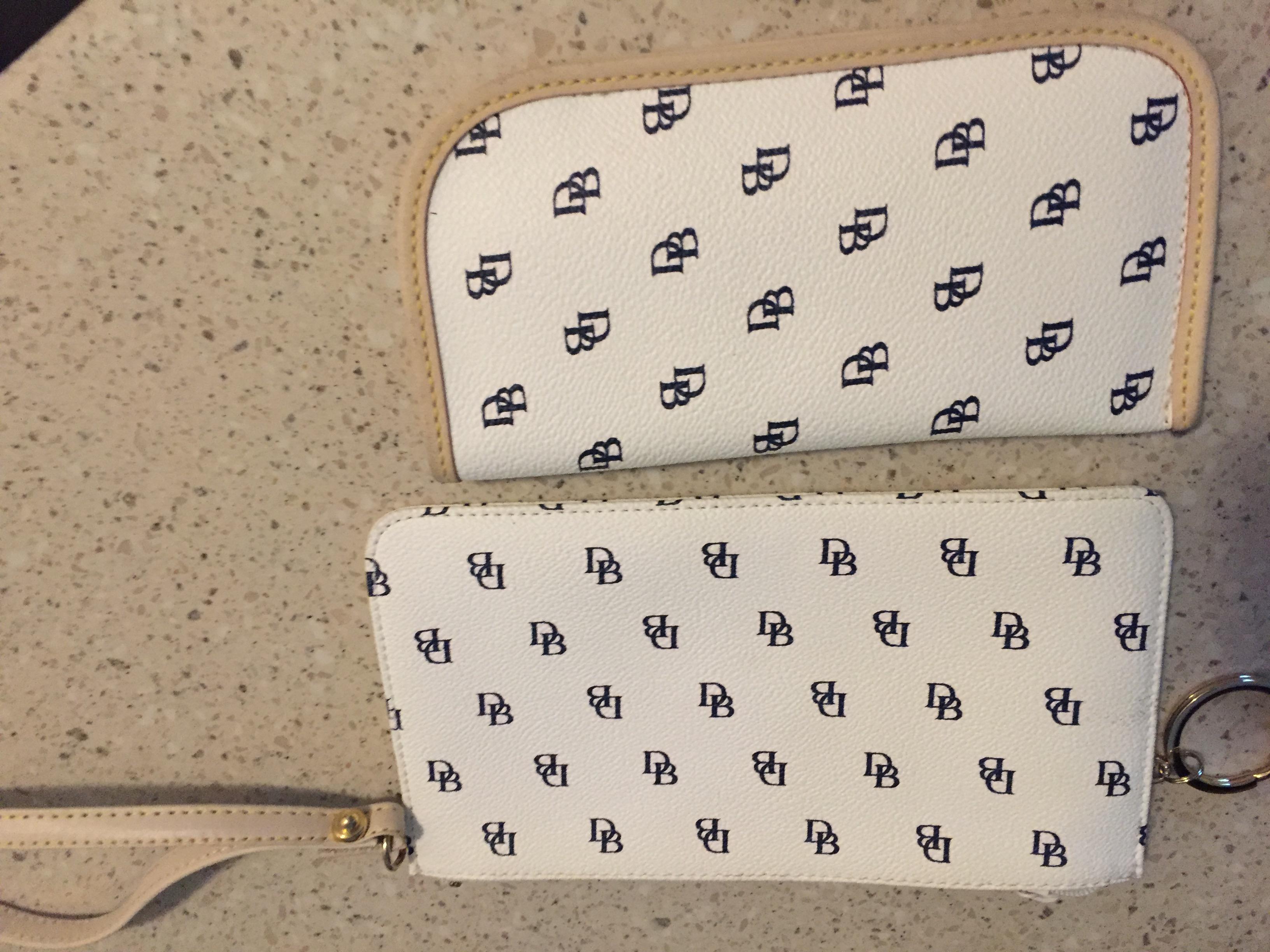 Dooney & Burke eyeglass case and slim zip wristlet
