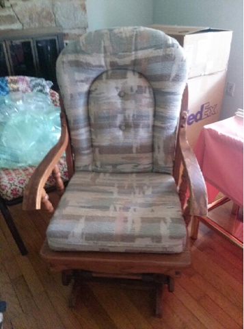Glider Rocker with matching ottoman