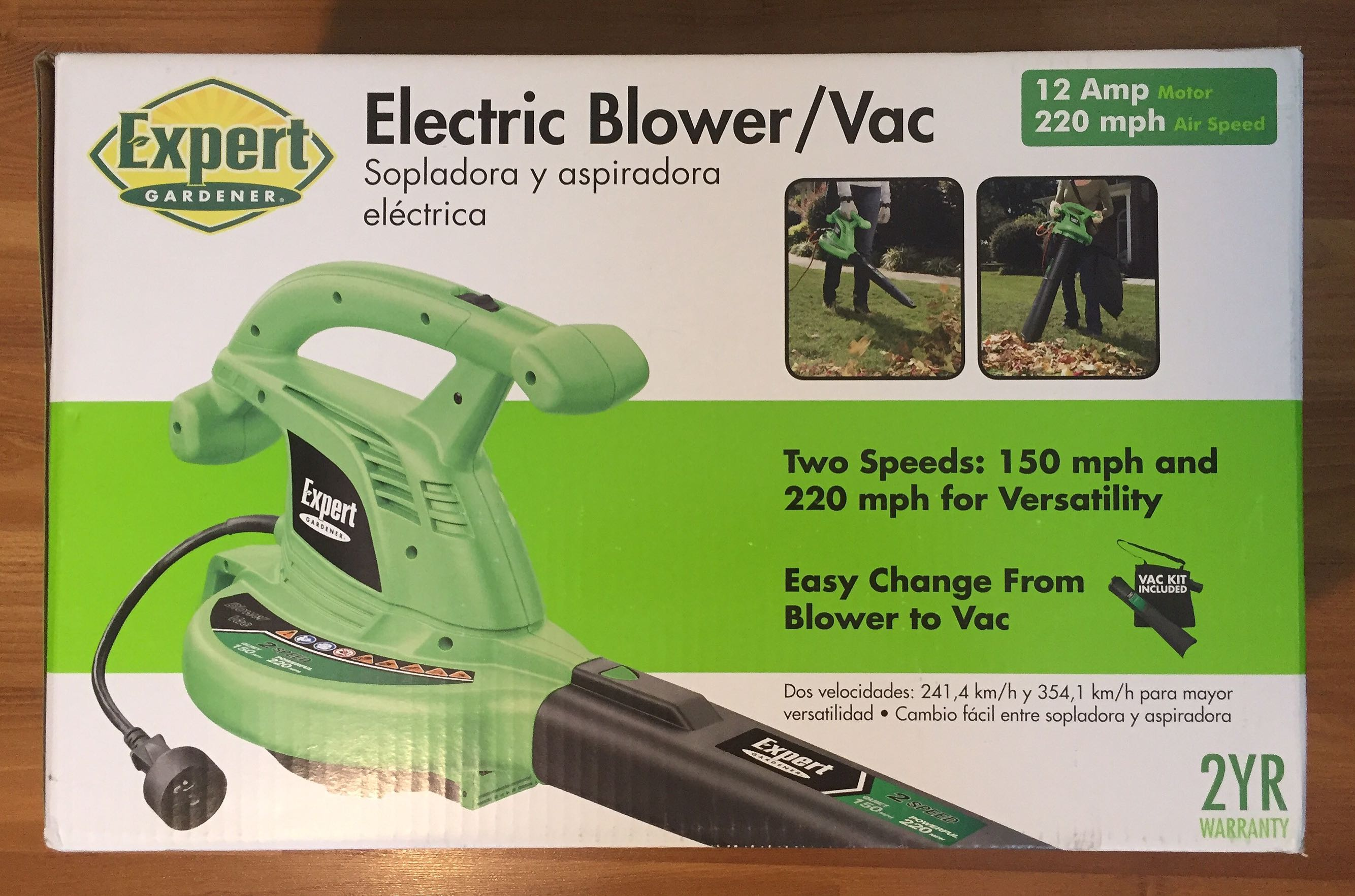 New Electric Blower/Vac 12 Amp Motor 220 Mph