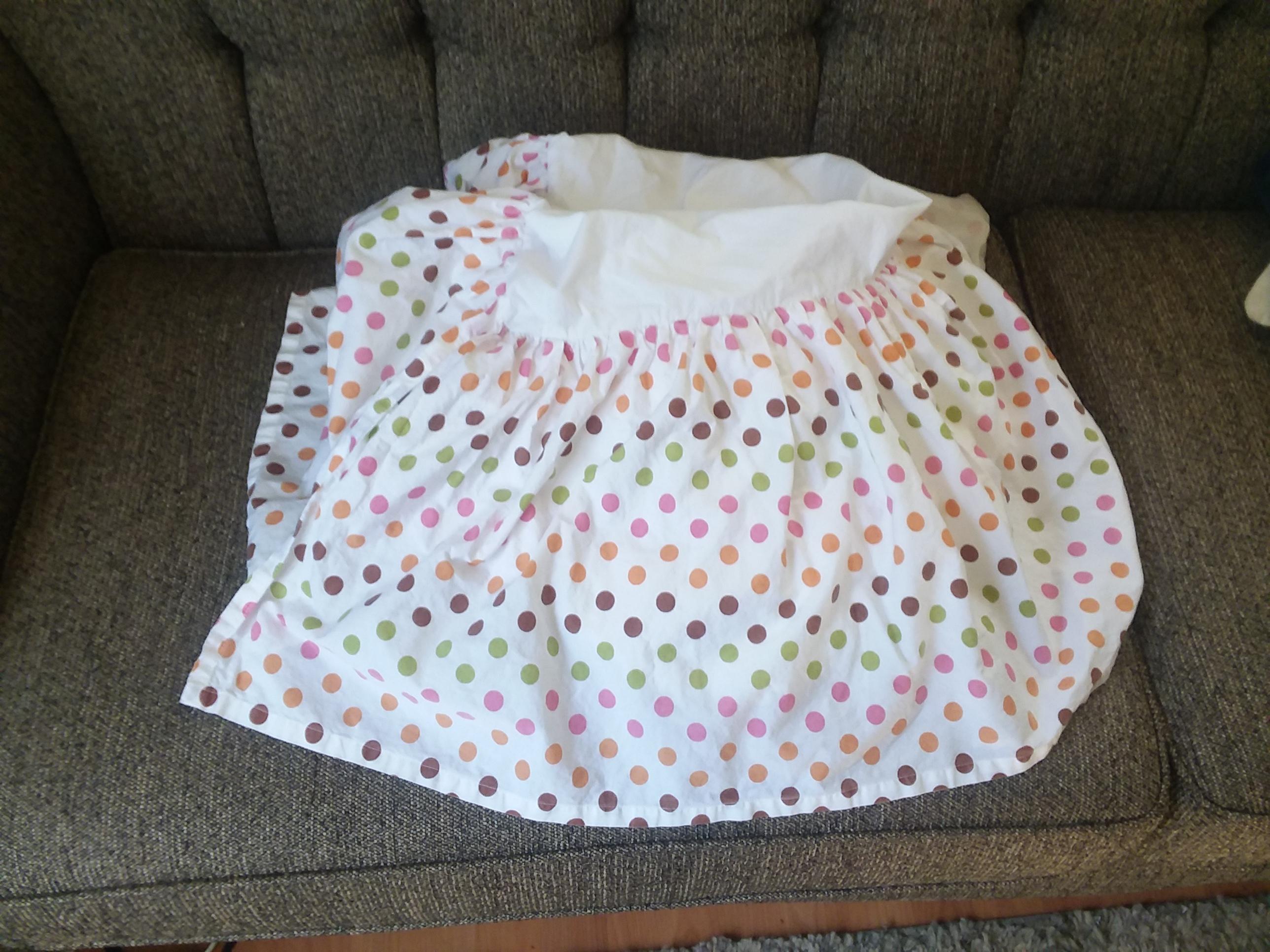 Crib skirt by Land of Nod