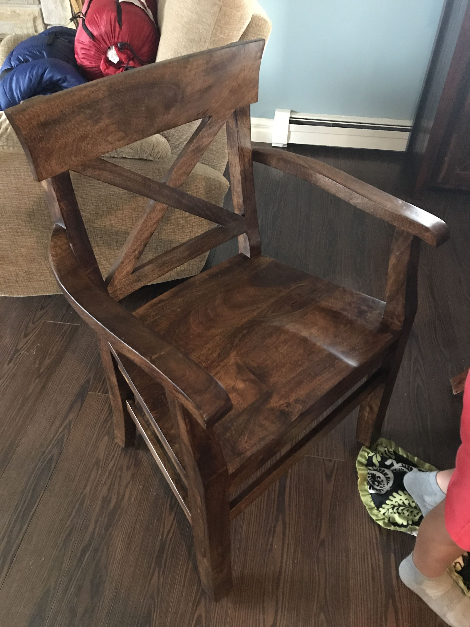 2 armed dining chairs