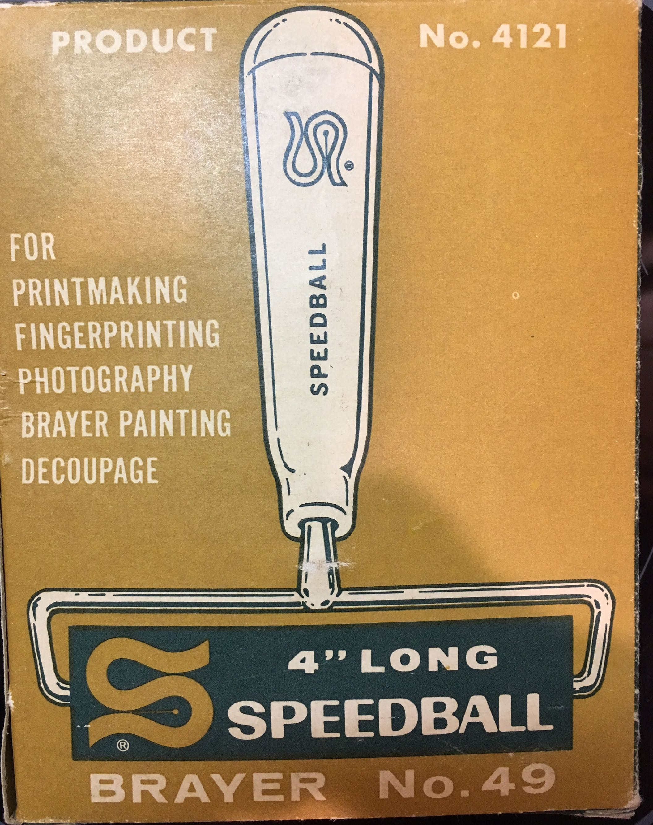"4"" Long Speedball Brayer No. 49"