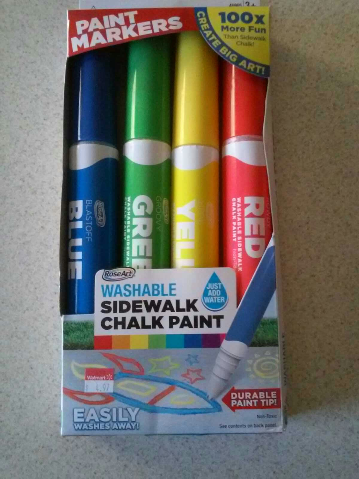 Washable Sidewalk Chalk Paint by RoseArt NEW $2.50