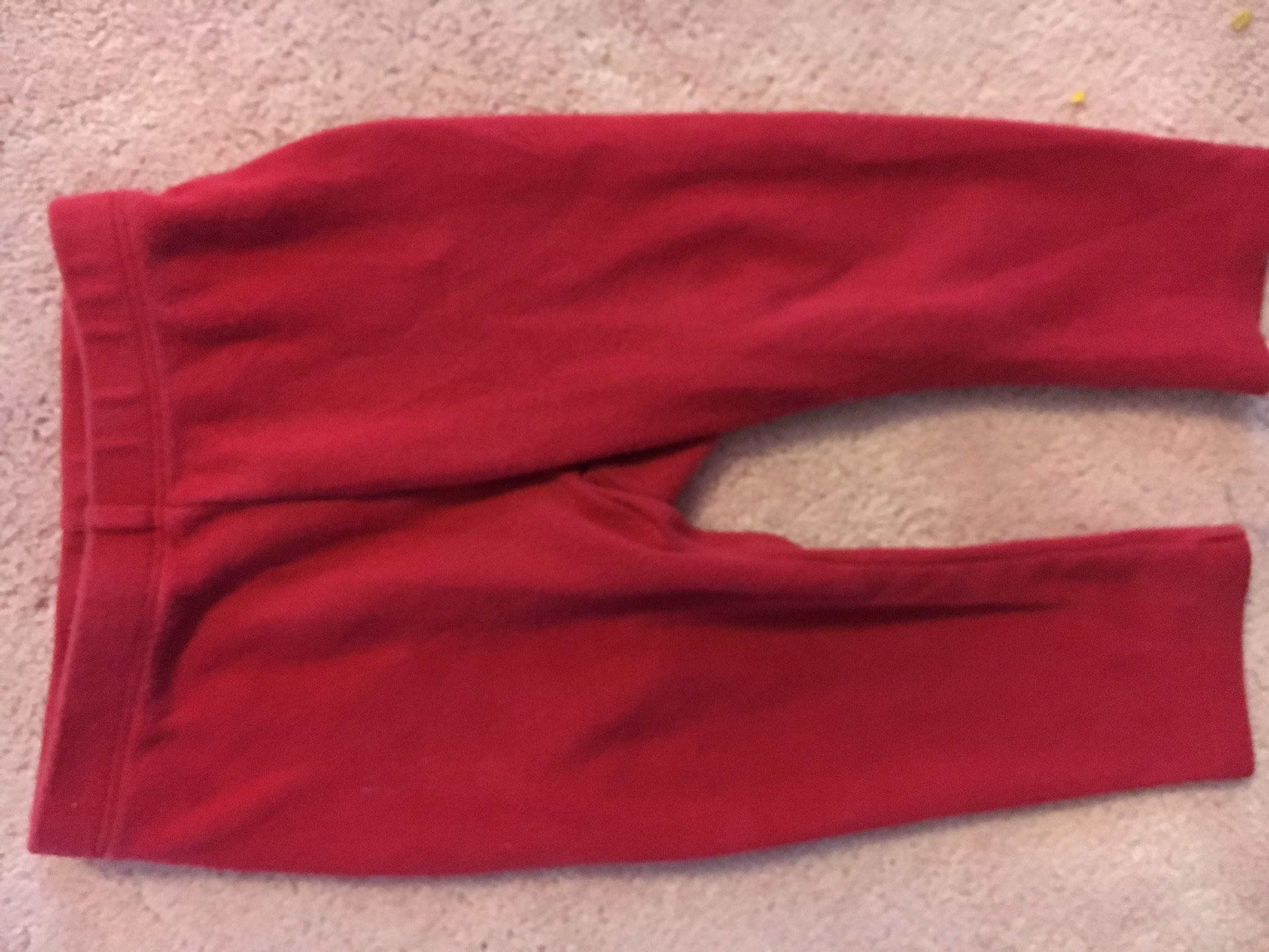 Red pants size 12 mo