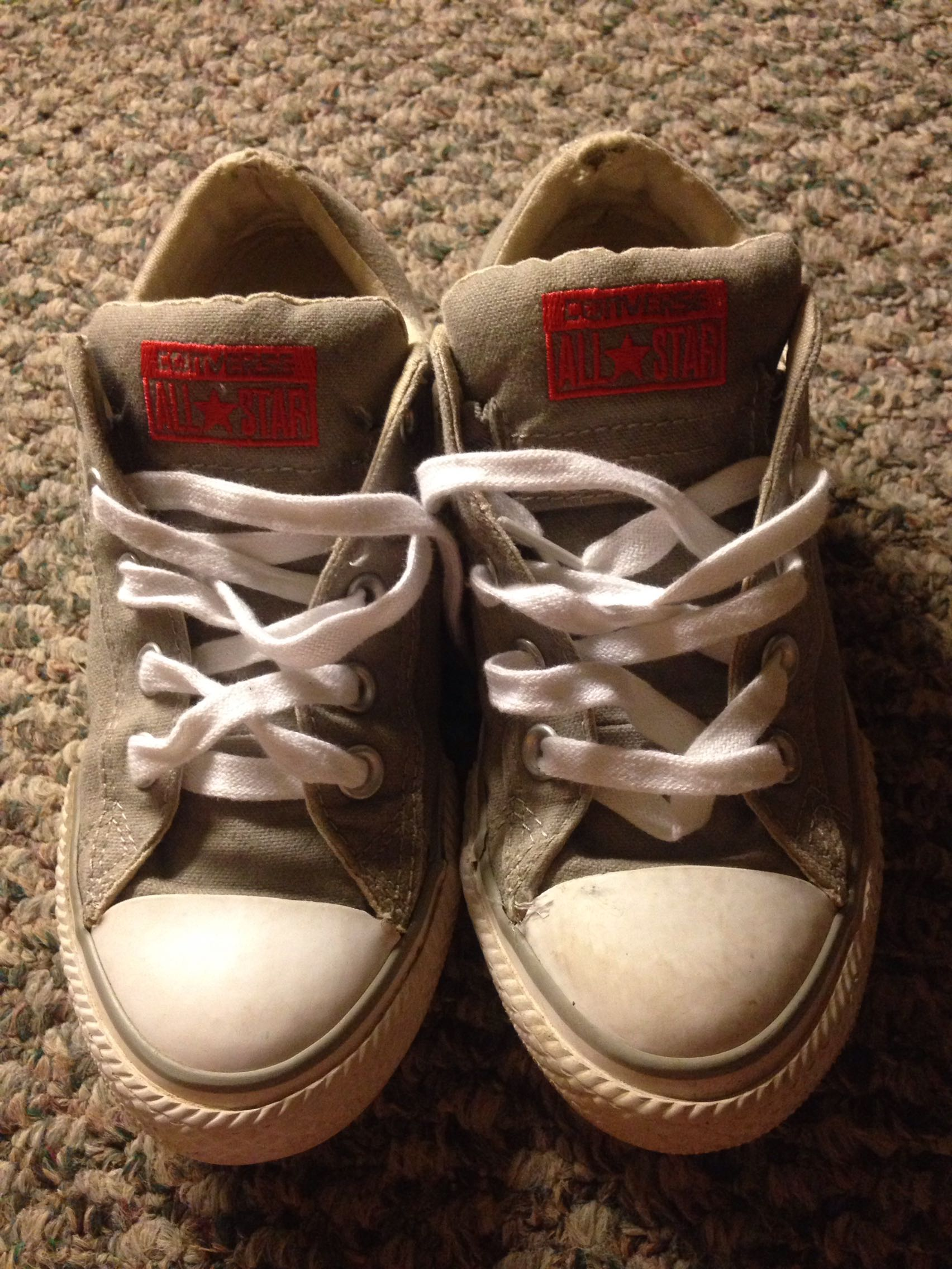 Youth size 1 converse shoes