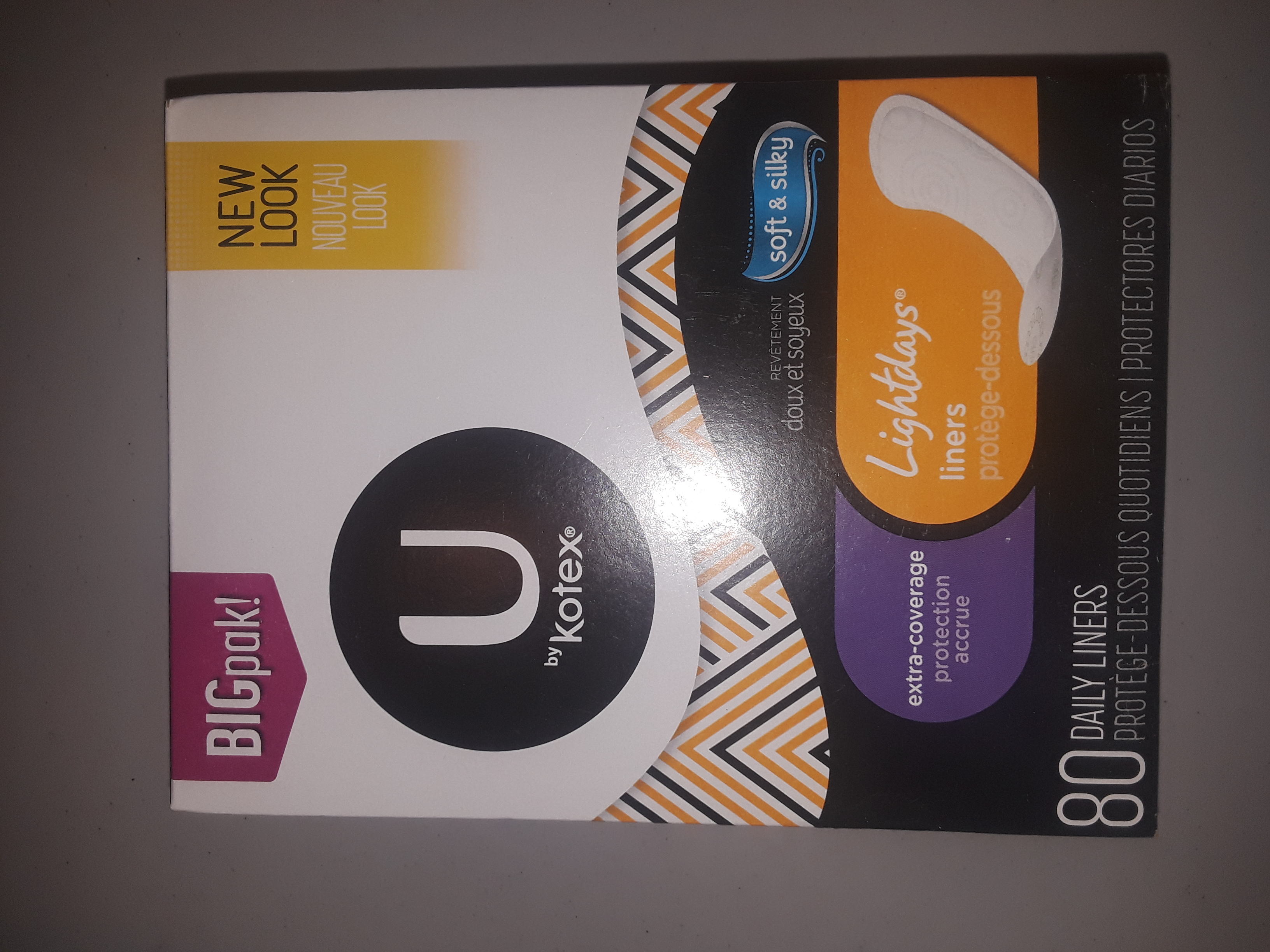 U by Kotex light-days liners 80 count
