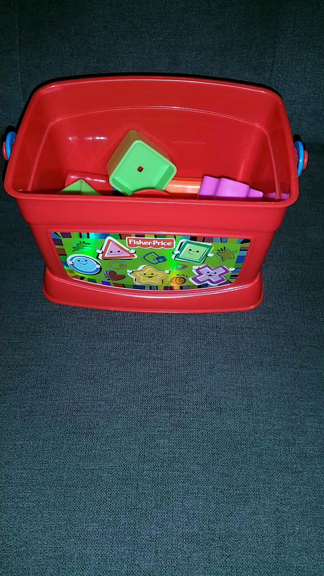 Shapes and colours bucket Fischer Price