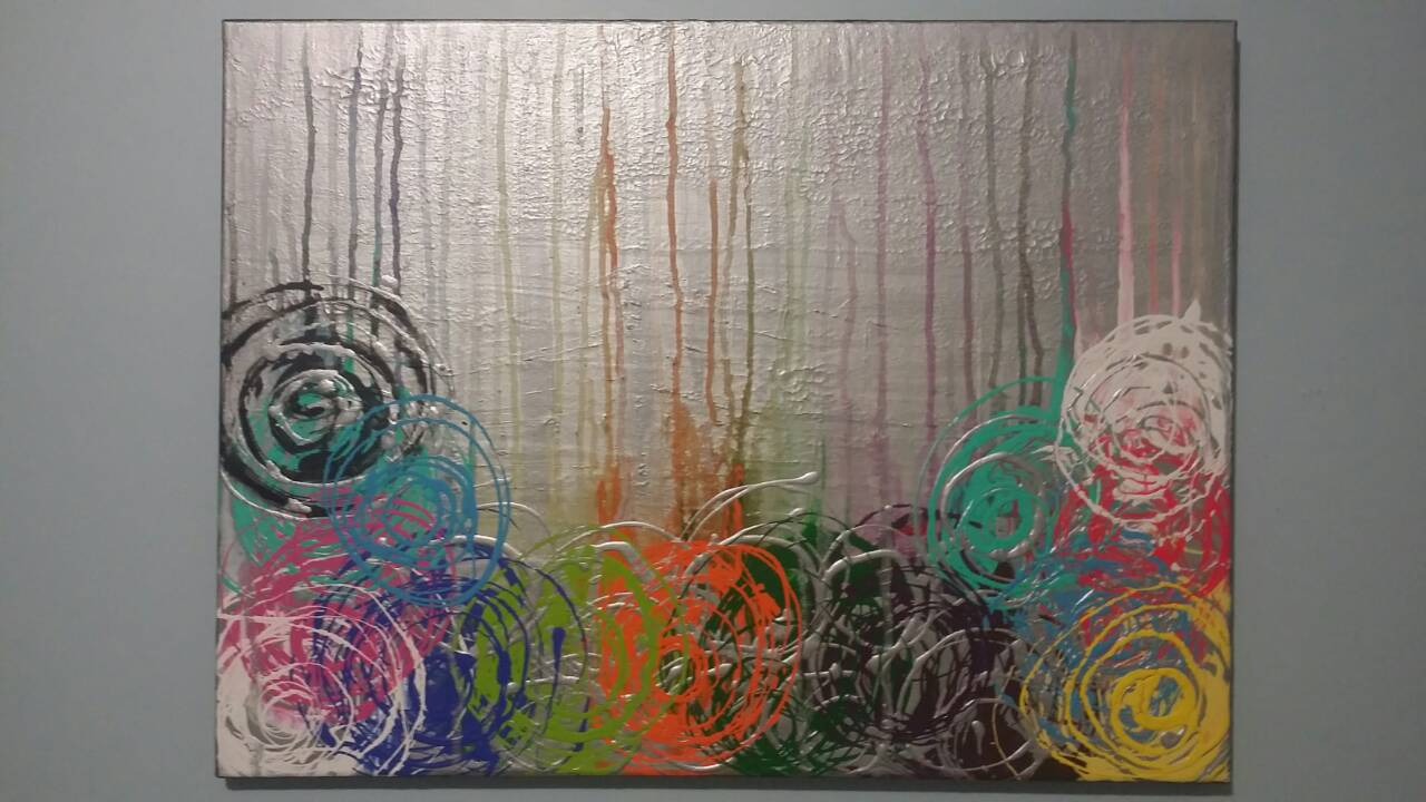 24x18 inches abstract painting with texture background