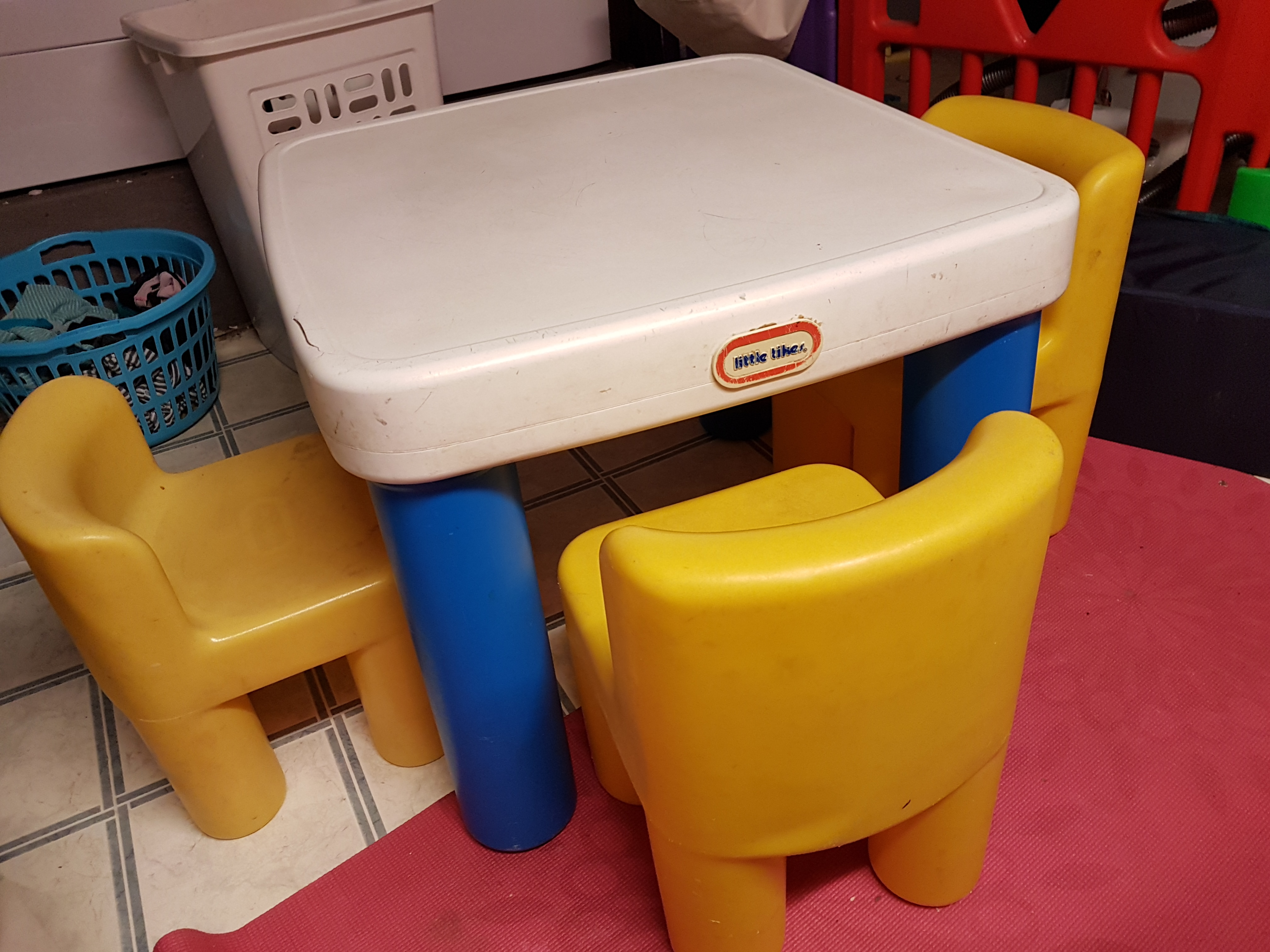 Little times table and 3 chairs