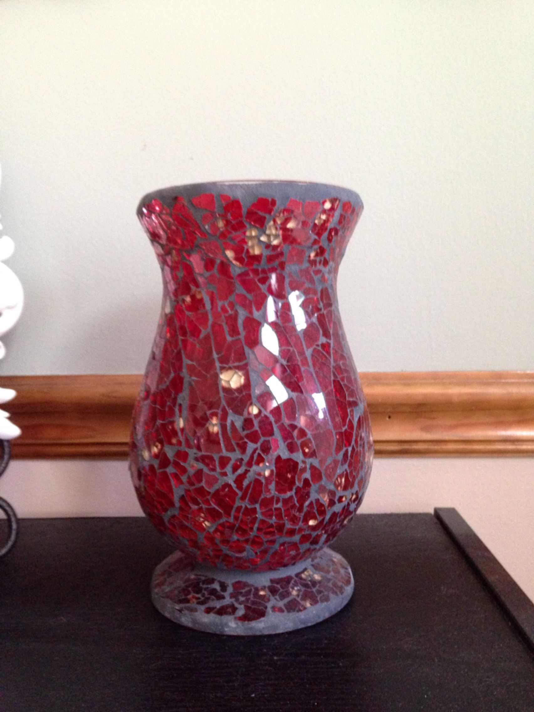 Super Best Red Glass Mosaic Vase/candle Holder for sale in Lee's Summit  IR27