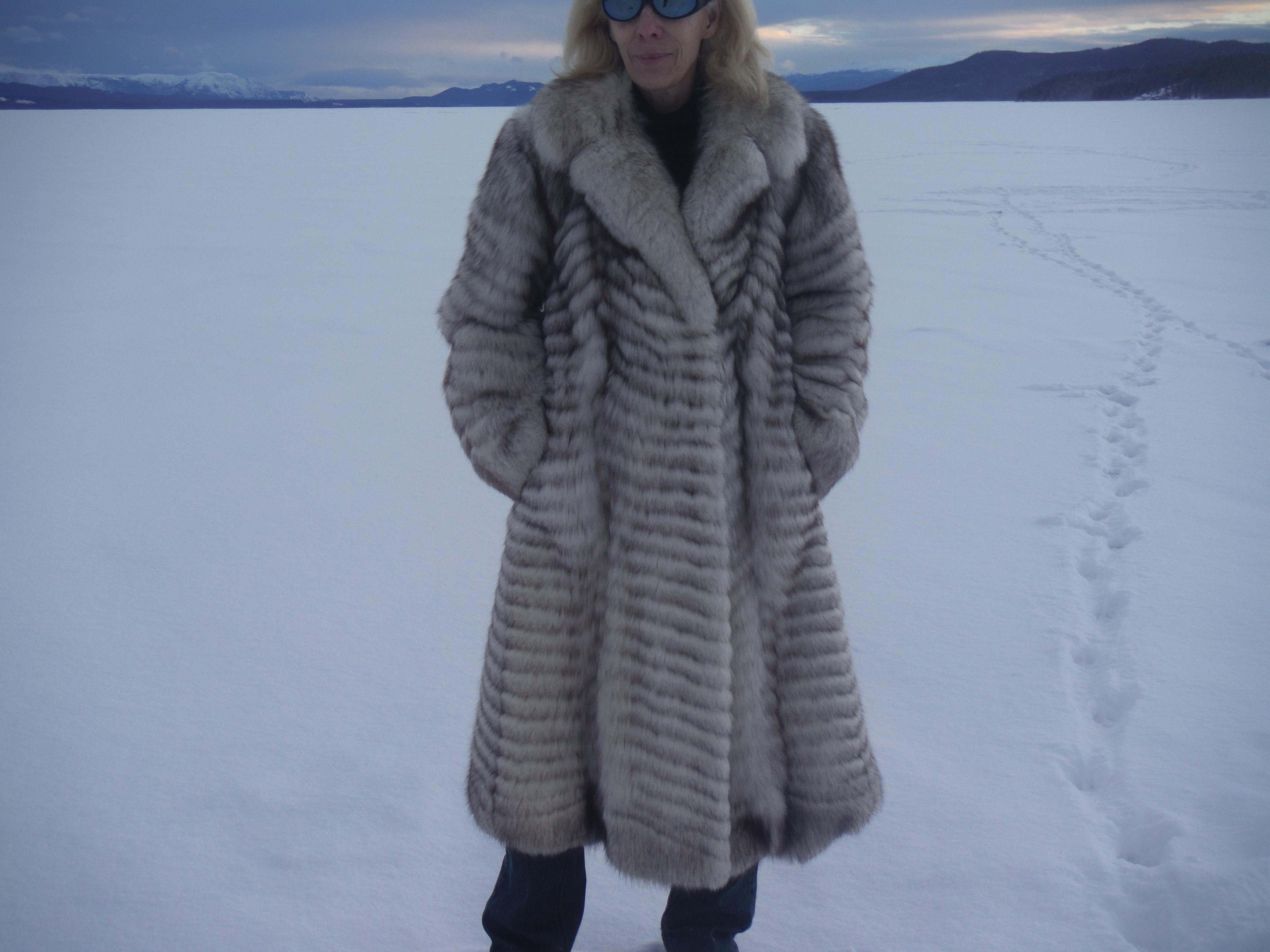 Beautiful Long Fox Fur Coat